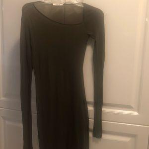 Olive green Helmut Lang dress